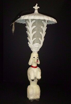 NOS Vtg Mid Century Aluminum Poodle Outdoor Pole Lamp Light Frank Dini Italy