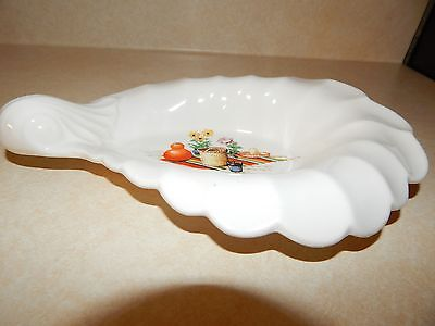 Mexi -W S George - Pottery - Bolero - Candy Sauce Relish Dish Shell Shape White