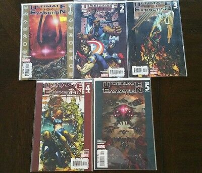 Marvel Ultimate Extinction #1-5 Complete Set, Galactus, VF.