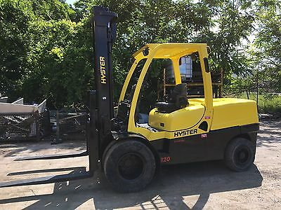 2009 Hyster 12000 Lb  Pneumatic Forklift Dual Drives Gasoline Powered low Hours