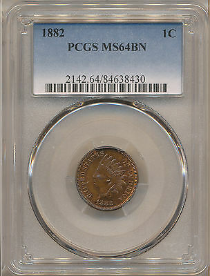 1882 Indian Cent Ms64Bn Pcgs