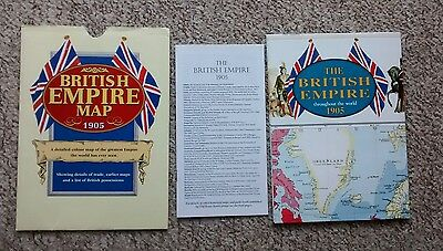 British Empire Map 1905 (Old House Books) - complete with guide book