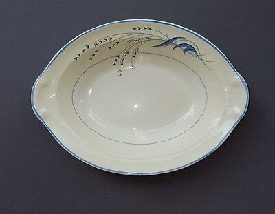 Taylor Smith and Taylor Blue Wheat pattern serving bowl 9.25in late 1930s