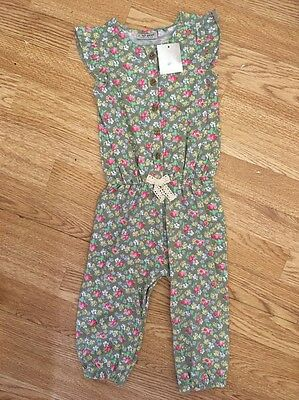 Next Baby Girls Floral Print Playsuit 12-18 Months Bnwt