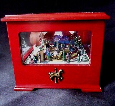 Mr. Christmas Carousel Music Box Gold Label Collection