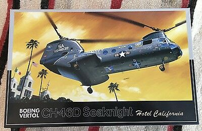 "Fujimi CH-46D SeaKnight Boeing Vertol ""Hotel California"" 1:72 Scale Model"