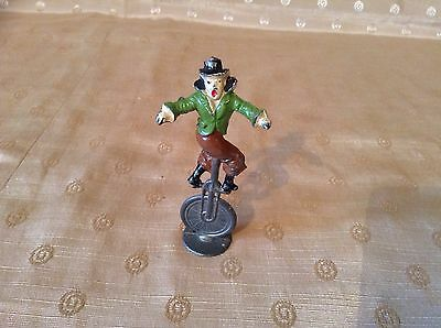 Vintage Rare Pre-War Charbens Lead Circus Series Clown Riding A Unicycle L@@k