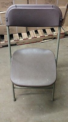 Commercial Plastic Folding Chairs Brown Stackable Party Chair BUY 6 GET 1 FREE!