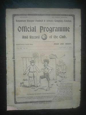 Tottenham V Leicester Fosse Fa Cup Replay 1913/14