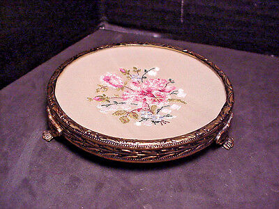 Petit Point Vanity Tray Dresser Caddy Jewelry Holder