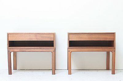 Danish Modern Walnut Nightstands