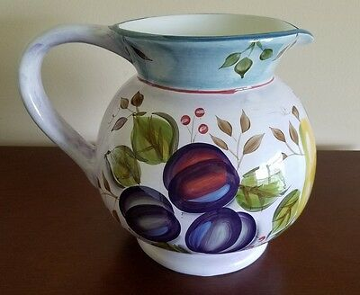 """HERITAGE MINT """"Black Forest Fruits"""" Dinnerware China Large Pitcher 8"""" Height"""