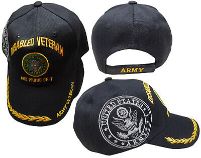 fa3294e6ff3 US Army Disabled Vet Veteran Black Shadow Emblem Embroidered Cap Hat CAP591F