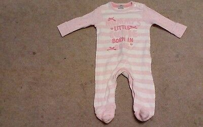F&F upto 1 month girl sleepsuit