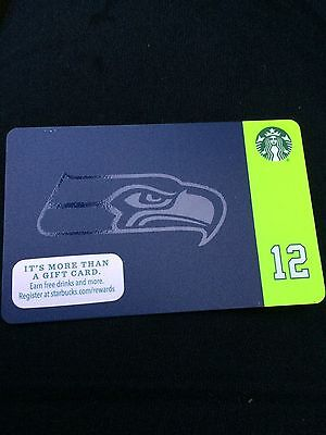 NEW Mint Starbucks SEATTLE SEAHAWKS 12th FAN GIFT CARD 2015 Limited Edition