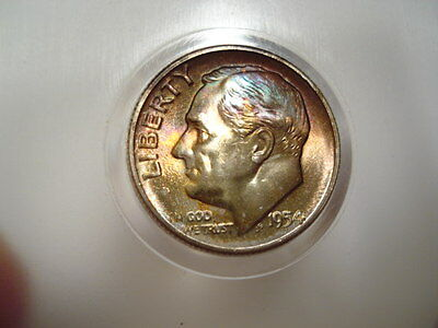 **  1954-S  Roosevelt Dime  **   Nice Toned Coin  !!!!!!!!!!!!!!!!!!!!!!!!!!!!!!