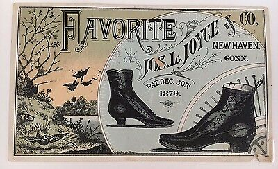 Vintage Trade Card Jos. Joyce & Co. New Haven Burt's Fine Shoes Grand St NYC