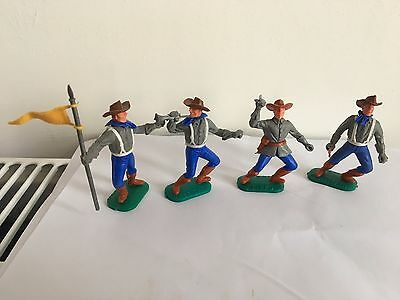 Vintage Timpo Acw Confederate Soldiers Excellent Condition
