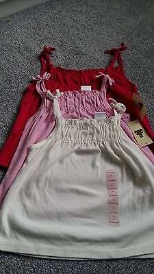Cute babyGAP (3pack) stappy cami tops Age 18-24 months