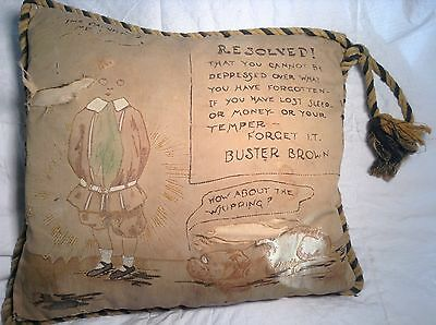 Original Antique Early BUSTER BROWN & TIGE Pillow Richard F Outcault Very Rare