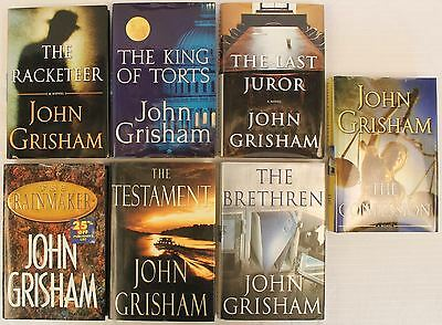 John Grisham Hardcover Novels *Lot of 7*