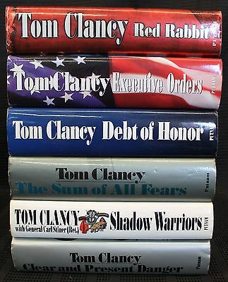 Tom Clancy Hardcover Lot of 6
