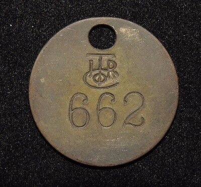 Vintage International Time Recording Co ITR Co Numbered 662 Pre IBM Token / Tag