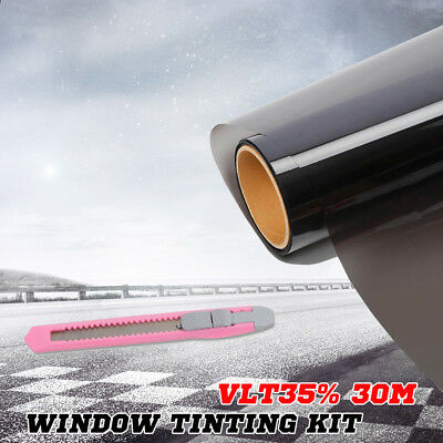 Car House Window Tint Film Black Roll Glass 100cm x 30m 35% VLT + Tinting Tools