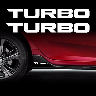 TURBO STICKER 2X decals vinyl 1.5 Fits Honda Civic Accord civic CR-V *WHITE