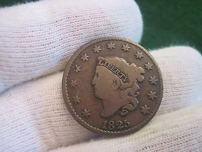 1825 Large Cent Old US Coronet Cent Type Coin