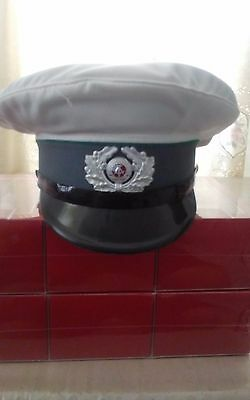 East German Army Military/Police white top summer hat-size 58