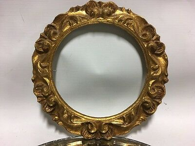 VTG.Italian Florentine Picture Frame Wood Compostion Gold Gilt Italy Rococo