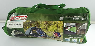 COLEMAN 4 Person 9 ft x 7 ft Camping Tent W/ WeatherTec System