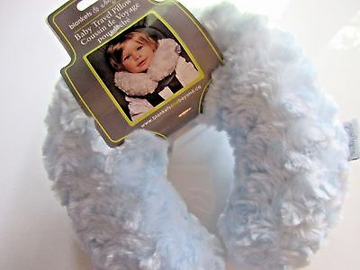 Blankets and Beyond Soft Rosette Baby Boy Girl Travel Head Support Pillow Blue
