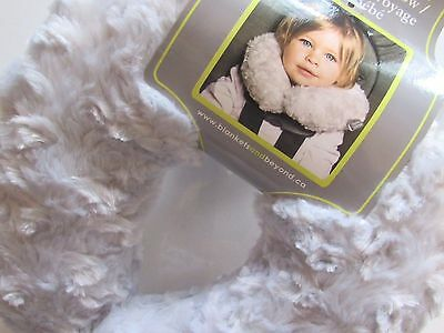 Blankets and Beyond Soft Rosette Baby Boy Girl Travel Head Support Pillow Gray