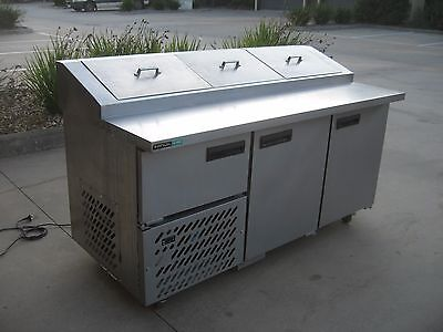Anvil Aire Pizza / Sandwich Prep Cabinet,mobile Refrigerated Stainless Steel