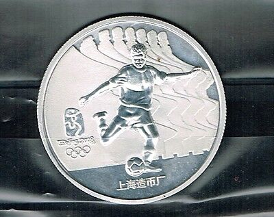 China.1988 Summer Olympics Game.Silver Medal in capsule.Football.Soccer.10 oz.