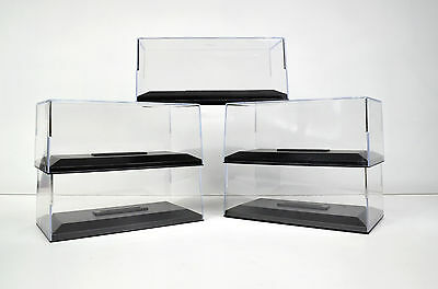 5 x DISPLAY CASES FOR MODEL CARS IN SCALE 1:43