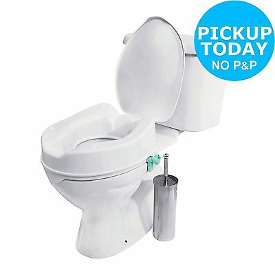 Ease of Living Raised Toilet Seat with Lid - White -From the Argos Shop on ebay