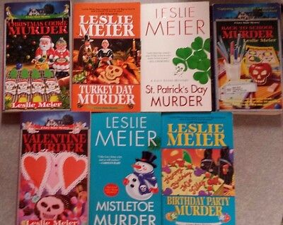 Lot of 7 Leslie Meier mystery paperbacks