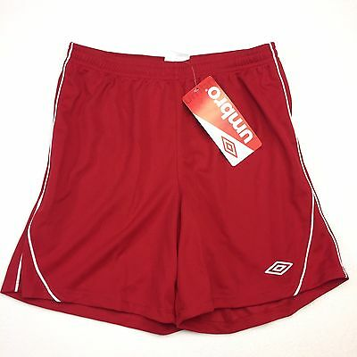 NWT Umbro Shorts Youth Kids  L 12-14 Climate Control Athletic Red