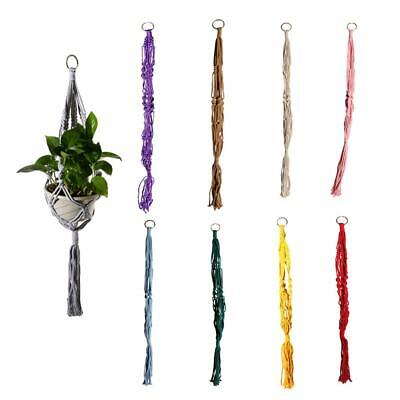 Braided Macrame Cotton Plant Hanger Garden Flowerpot Holder Baskets Hanging 90cm