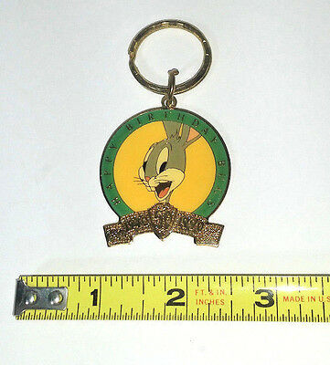 WB Looney Tunes 50th Birthday Bugs Bunny Key Chain ~ 1940 - 1990
