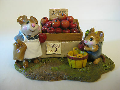 "Wee Forest Folk-M187-""adam's Apples""-1992-Retired-Mint!!"