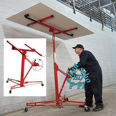 Plaster/Board Lifter 11Ft LiftTool Caster Drywall Hoist Plasterboard Panel Sheet