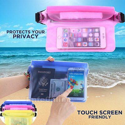 Waterproof Waist Pouch Bag Underwater Dry Case Cover New for iPhone Cell Phone