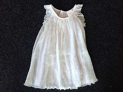 SEED HERITAGE Baby Girl Sparkle/Glitter Silk Grey Dress - Size 3-6 Months