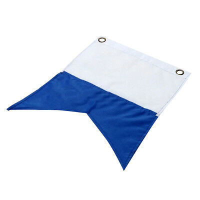 30 x 35cm White Blue Polyester Dive Boat Alpha Flag Scuba Diving Accessories