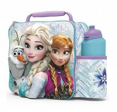 NEW Disney Frozen Anna Elsa Olaf 3D Insulated Lunch Bag Box and Drinks Bottle