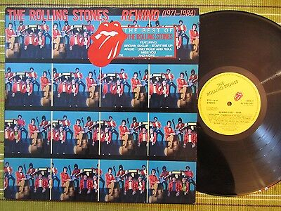 The Rolling Stones, Rewind 1971-1984, Uk 1St Press A-1/b-1 Vg/vg+ With Sticker